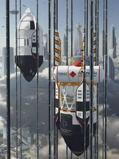 [image] Title: Damocles space elevator hub (mothership) Name: Sergio Botero Country: Colombia Software: Maya mental ray Photoshop Submitted: August 2016 Damocles is a large space port and elevator hub with stat… Concept Ships, Concept Art, Elevator Design, Sci Fi Models, Landscape Concept, Futuristic Art, Earth From Space, New Earth, Matte Painting