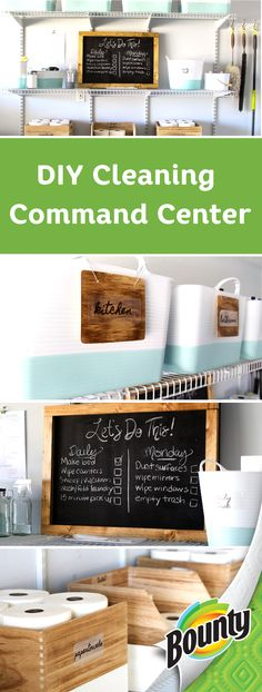 You can't have a cleaning command center without Bounty Select-A-Size paper towels! Learn how to complete this DIY home makeover project for yourself—you'll love how clean and organized your house will look. Bounty makes it easy to tackle your spring cleaning to-do list so click here to order yours.