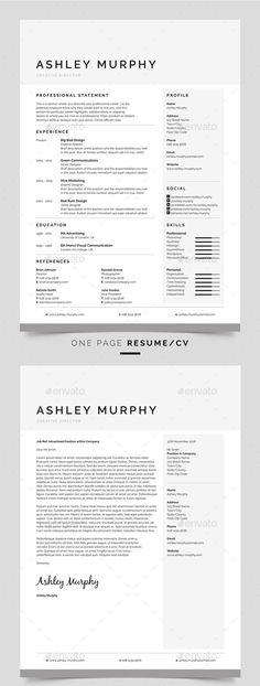 Professional Resume/CV and Cover Letter Template for ms Word, Photoshop and inDesign the best of modern, professional, creative and simple resume or CV templates from our store. All at discount prices! Click the image to buy! Creative Cover Letter, Cover Letter Design, Cover Letter Template, Resume Design Template, Best Resume Template, Cv Template, Design Resume, Portfolio Resume, Portfolio Web Design
