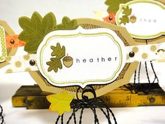 Thankful Place Card - detail