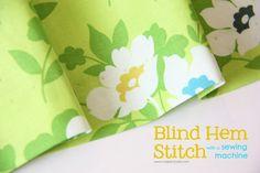 blind hem stitch using your machine