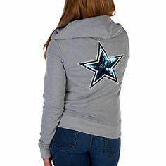 97035b08efc Dallas Cowboys PINK Bling Full Zip Hoodie Dallas Cowboys Hoodie, Dallas  Cowboys Football, Dallas