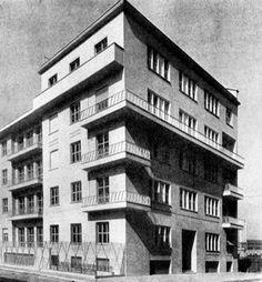 mario asnago e claudio vender - edificio per abitazioni hesperia, milano, via euripide 7, 1934