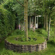turf seat around a tree will edging