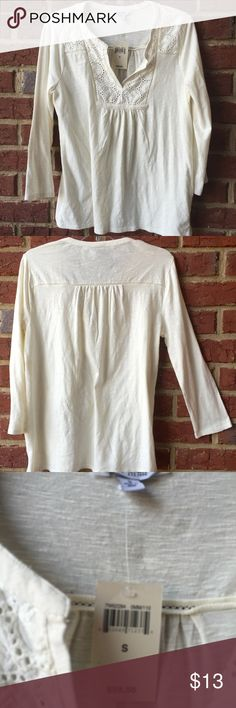 Lucky Brand top    Size 5   NWT Really cute off white Lucky Brand top. NWT Lucky Brand Tops