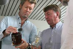 Magne Furuholmen designing exclusive cognac bottle