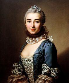 1753 Alexander Roslin - Portrait of unknown lady