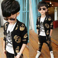$42.69 (Buy here: https://alitems.com/g/1e8d114494ebda23ff8b16525dc3e8/?i=5&ulp=https%3A%2F%2Fwww.aliexpress.com%2Fitem%2FFashion-children-s-clothing-sets-baby-boys-casual-Skull-print-suit-sets-kids-jacket-pant-suit%2F32727051843.html ) Fashion children's clothing sets baby boys casual Skull print suit sets kids jacket & pant suit sets boys clothing kids twinsets for just $42.69