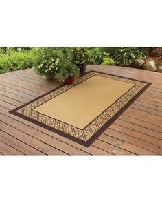 Better Homes and Gardens Indoor/Outdoor Bamboo Border Polyester Area Rug, Straw, Multicolor Bamboo Rug, Better Homes And Gardens, Indoor Outdoor, Area Rugs, Home And Garden, Patio, Walmart, Yard Ideas, Outdoors