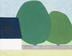 """AXEL KARGEL, """"VITT HUS OCH TRÄD"""" (WHITE HOUSE AND TREE)."""