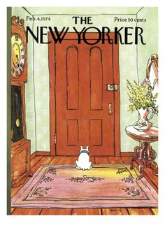 The New Yorker Cover - February 4, 1974 by George Booth