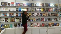 Checking out my Book on Display at LBF