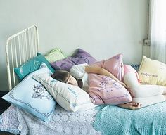 I've never wanted lots of pillows until right now.