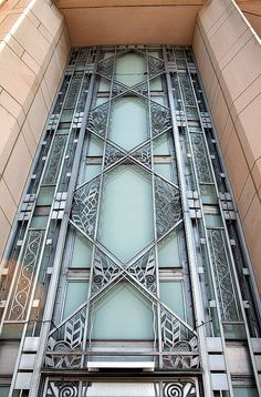 Art deco door by Something To See, via Flickr