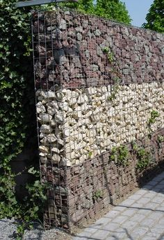 gabions examples | Design ideas for using gabion walls to retain a slope