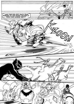 Race! On! (page3, Chapter 2): FREE PDF at http://www.komicbrew.com/race-on.html Fantasy shonen manga by Gemar Delfino & Mario Savovski. #shonen #manga #magic #fantasy #steampunk #racing