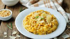 Buy Roasted pumpkin and Pearl Barley Risotto by Arzamasova on PhotoDune. Roasted pumpkin and Pearl Barley Risotto on a wood background. Barley Risotto, Cottage Cheese Pancakes, Beans Vegetable, Pearl Barley, Chickpea Soup, Green Lentils, Roast Pumpkin, Feta Salad, Tomato Basil