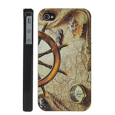 Antique Style Compass Hard  Back Case for iPhone 4 / 4S