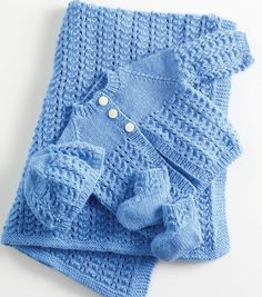 Lullaby Layette in Lion Brand Babysoft - Cute free knitting pattern for babies