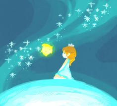 I think this is from Mario Super Galaxy...? It looks like the little lumas.