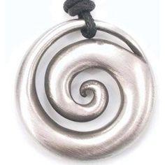 "Pewter pendant - ""O"" design, 2 levels"