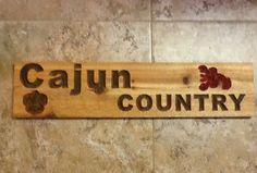 """Cajun Country""  Wall Hanger Sign Shabby Primitive cajun. You Choose Colors!  #CajunSignShop #shabby"