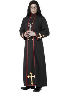 Gotisk prestekappe - Halloween kostyme til herre
