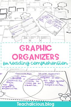 Printable graphic organizers for reading comprehension are ideal for elementary classrooms. Over 15 templates for fiction and nonfiction skills such as compare & contrast, main idea, and more. Best of all, all templates are in English and in Spanish. #reading #strategies