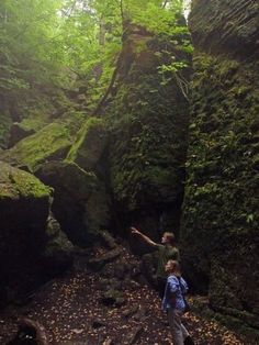 Singhampton Caves near Collingwood, Ontario- part of the Bruce Trail