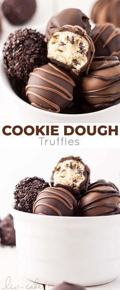These Egg-Free Cookie Dough Truffles Are The Perfect Bite-Sized Treat Dip Them In Chocolate Or Eat Them Plain. Cookie Dough Vegan, Nutella Cookie, Cookie Dough Truffles, Cookie Dough Recipes, Edible Cookie Dough, Candy Recipes, Baking Recipes, Dessert Recipes, Egg Free Desserts