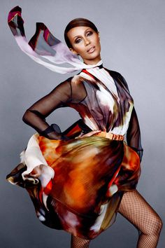 Iman in Givenchy by Riccardo Tisci, BAZAAR September 2014. See the full icons shoot here.