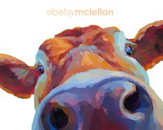 Cow - Graphic Style - Giclee Print by betsymclellanstudio on Etsy https://www.etsy.com/listing/178502301/cow-graphic-style-giclee-print