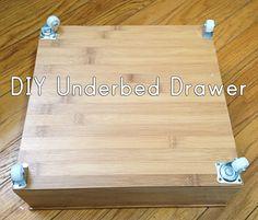 Under bed storage: DIY underbed drawers