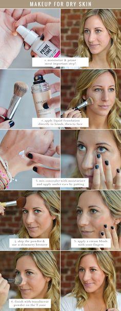 makeup tutorial for dry skin