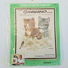 "Paragon Giordano Cross Stitch Kit 0168 Kitty Companions Cats Kittens 12"" x 16""  #ParagonNeedlecraft #Frame"