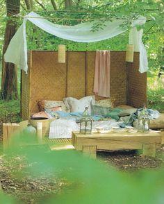 canopy double wooden garden bed kokoon - royal botania | garden, Wohnzimmer dekoo