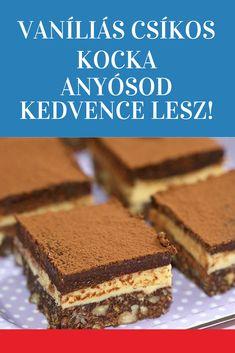 Cake Recipes, Dessert Recipes, Hungarian Recipes, Tiramisu, Sweets, Cookies, Eat, Ethnic Recipes, Food