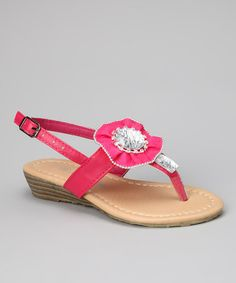 Take a look at the Fuchsia Shimmer Sandal on #zulily today!