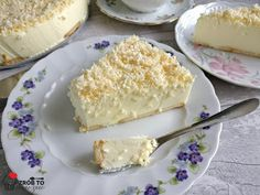 Zrób to smacznie : ŚNIEŻNY PUCH- CIASTO BEZ PIECZENIA Baked Goods, Cooking Recipes, Sweets, Bread, Cheese, Baking, Food, Tarts, Mince Pies