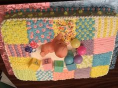 Baby blanket cake. Thanks, Pinterest, for an amazing idea!