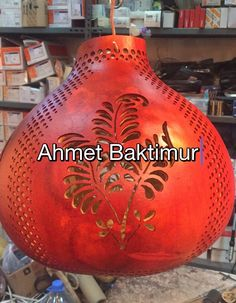 Gourd Crafts, Gourd Lamp, Crafty Projects, Gourds, Shades, Lights, Rock, Decor, Pyrography