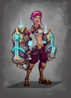 Vi League of Legends early concepts