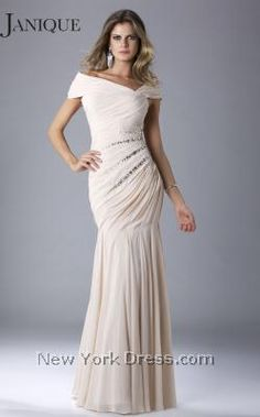 Janique 3304 - NewYorkDress.com  Comes in Navy - Love it  so sheek