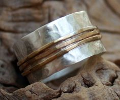 Hammered Sterling-Silver Ring