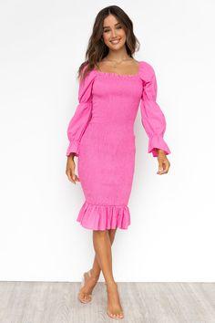 Myrah Dress - Hot Pink Lace Dress, Strapless Dress, White Dress, Semi Formal Dresses, Womens Fashion Stores, Online Fashion Boutique, Pink Color, Colour, Playsuits
