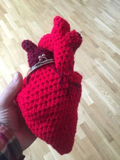 Crochet purse Heart shaped