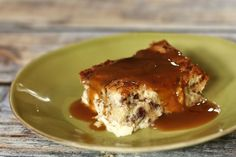 Egg Custard Bread Pudding with Nutmeg or Cinnamon