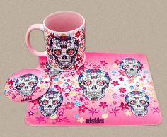 Mug Rug Caveira Mexicana