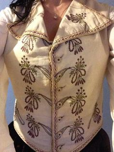 Best Christmas present ever... an antique 18th Century ladies riding waistcoat... and it fits!! :D