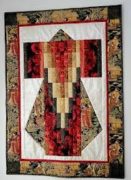 bargello kimono quilt pattern - This is beautiful. Japanese Quilt Patterns, Quilt Block Patterns, Quilt Blocks, Small Quilts, Mini Quilts, Quilting Projects, Quilting Designs, Art Quilting, Quilt Design